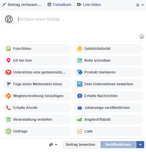 Facebook Stellenanzeige erstellen Schritt 1