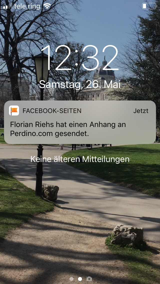 Notification - Bewerbungseingang Facebook